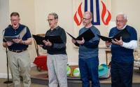 The men of the Chancel Choir perform Senandoah